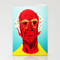 larry david Stationery Cards featuring Larry David 4 by Alyssa Underwood Contemporary Art