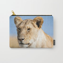 Lioness against blue sky Carry-All Pouch