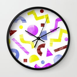 squiggles eighties Wall Clock