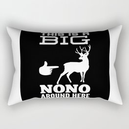 Funny Deer Hunting Gift Idea Design Motif Rectangular Pillow