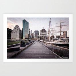 Boats, Bridges and Buildings Art Print