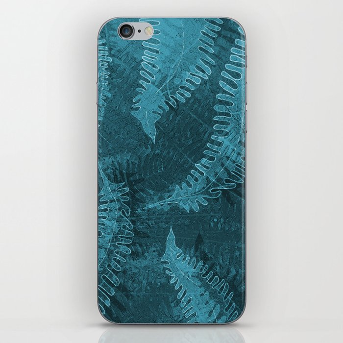 Ferns (light) abstract design iPhone Skin
