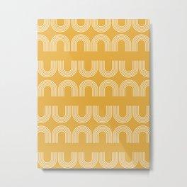 Rainbow balance - yellow Metal Print