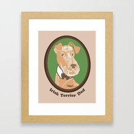 Irish Terrier Dad Framed Art Print