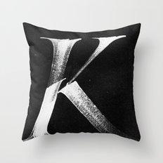 /K/ Throw Pillow