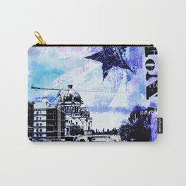 Berlin urban blue mixed media art Carry-All Pouch