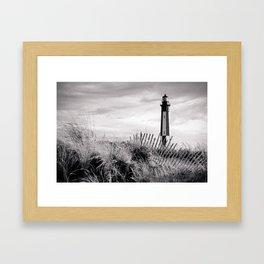 Cape Henry Lighthouse the 2nd (B&W) Framed Art Print