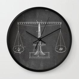 Lawyer Patent - Paralegal Art - Black Chalkboard Wall Clock