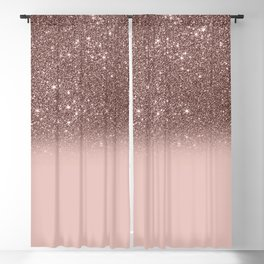 Rose Gold Glitter Ombre Blackout Curtain