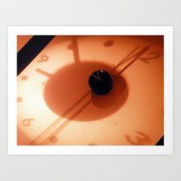 Clock at Washin Art Print