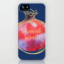 Rosh Hashanah Wishes for Shanah Tovah! with a Pomegranate iPhone Case