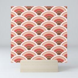 Retro Japanese Seigaiha Waves Pattern Mini Art Print