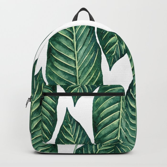 Green Banana Leaves #society6 Backpack