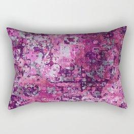 Messy Pink Foral Rectangular Pillow