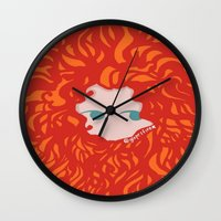 merida Wall Clocks featuring Merida by Glopesfirestar