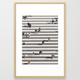 Rain Crossing Framed Art Print