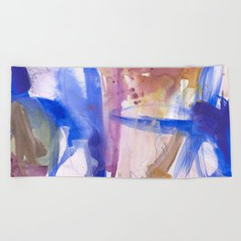 Watercolor Worlds Beach Towel