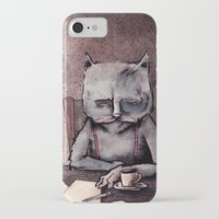 hemingway iPhone & iPod Cases featuring Hemingway cat by Jonathan Silence