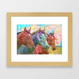 Fairy Horses Framed Art Print