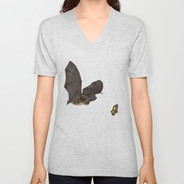 Brown Long-eared Bat Unisex V-Neck