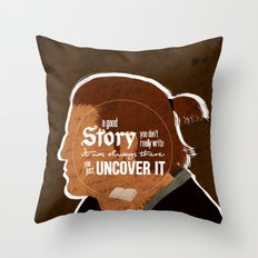 A Good Story Throw Pillow