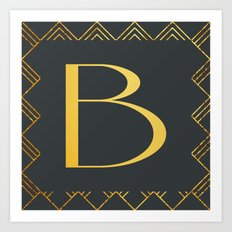 Art Deco Monogram - B Art Print