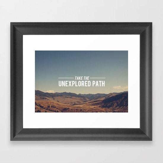 Take The Unexplored Path Framed Art Print