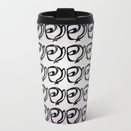 Rows of Flowers, Purple Travel Mug