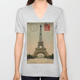 Paris Unisex V-Neck