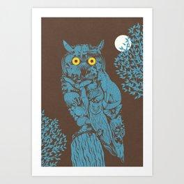 Night creatures Art Print