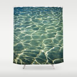 Water's background Shower Curtain