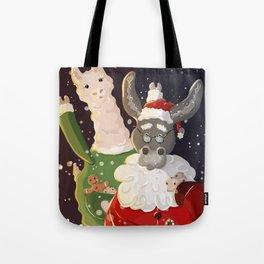 Santa donkey Tote Bag