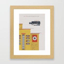 Una giornata particolare, alternative movie poster, Marcello Mastroianni, Sophia Loren, italian film Framed Art Print