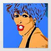 tina crespo Canvas Prints featuring Tina by Saundra Myles