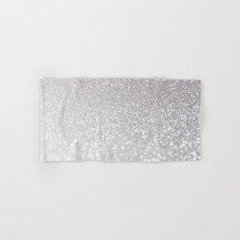 Silver ice - glitter effect- Luxury design Hand & Bath Towel
