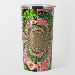 Rose Petal Mandala Travel Mug