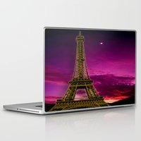 eiffel tower Laptop & iPad Skins featuring Eiffel Tower  by Elena Indolfi
