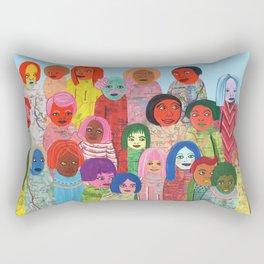 All the People Rectangular Pillow