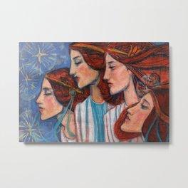 Tribute to Art Nouveau Metal Print