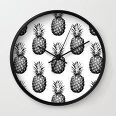 Black & White Pineapple Wall Clock