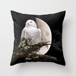 Snowy Owl A144 Throw Pillow