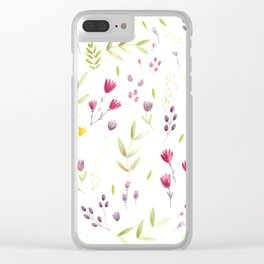 Berry Bouquet Clear iPhone Case
