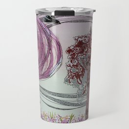 Pink Grove Travel Mug