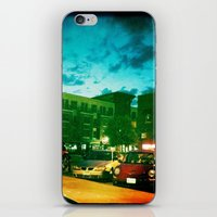 fargo iPhone & iPod Skins featuring Fargo City Nights Two, 2011 by Libby Walkup Photography
