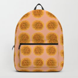 Sun Drawing Gold and Pink Backpack