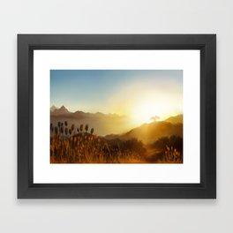 Sunrise Embrace Framed Art Print