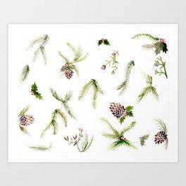 Holiday Plant Extravaganza Art Print