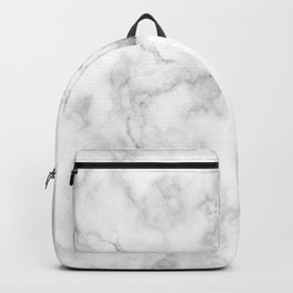 Marble pattern on white background Backpack