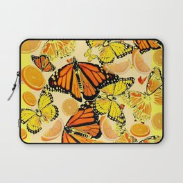YELLOW MONARCH BUTTERFLY  & ORANGES MARMALADE Laptop Sleeve