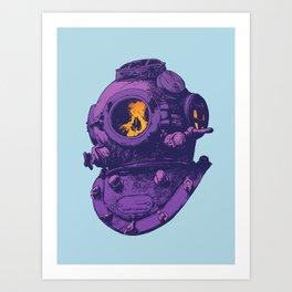Dead diver Art Print